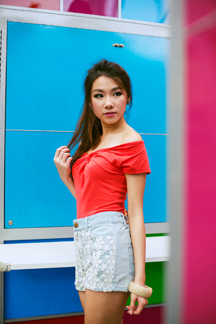 Knotty Love Top in Cheery Coral