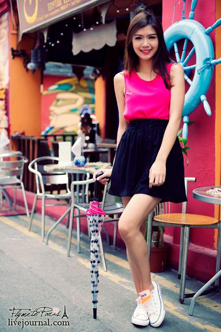 Pixie Chiffon Skirt in Black