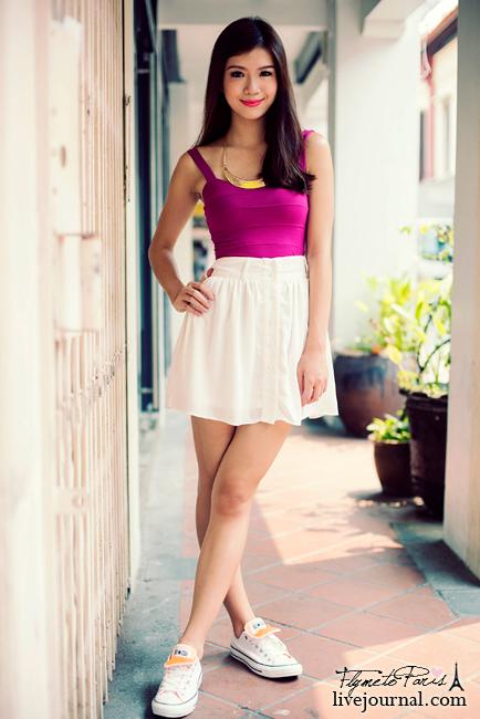 Pixie Chiffon Skirt in White