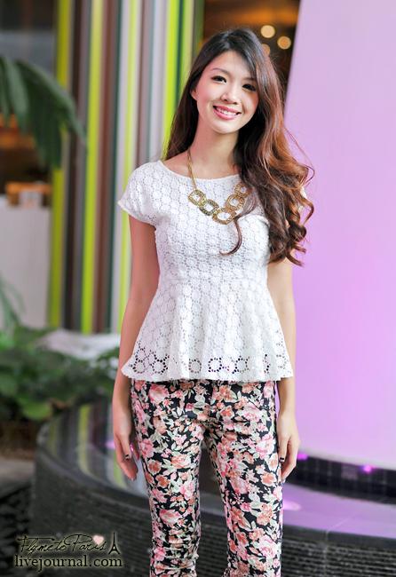 Tessa's Crochet Peplum Top in White