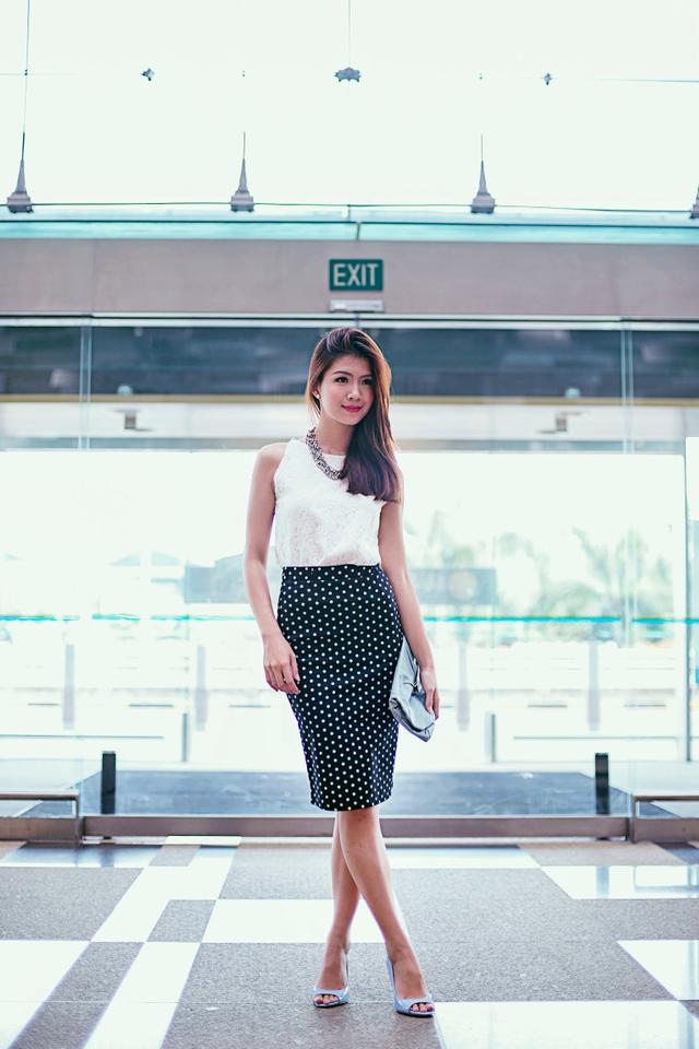 Maddie Polka Dot Midi Skirt