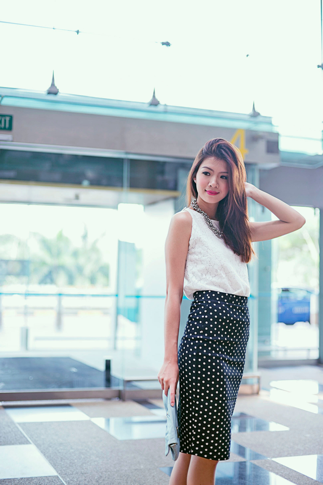 Layla Lace Button Top in White