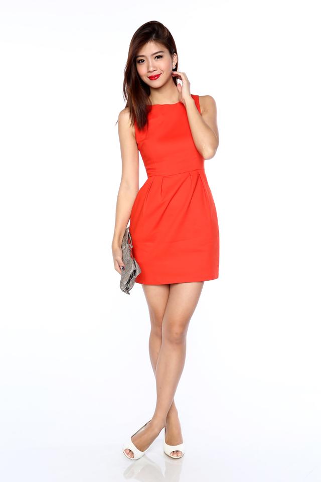 Corporate Beauty Dress in Tangerine Orange