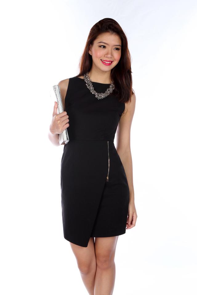 Sondra Origami Dress in Black
