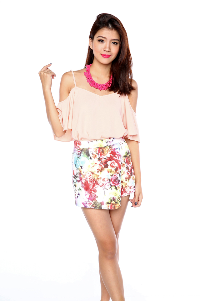 Amber Overlap Shorts in Colourful Floral