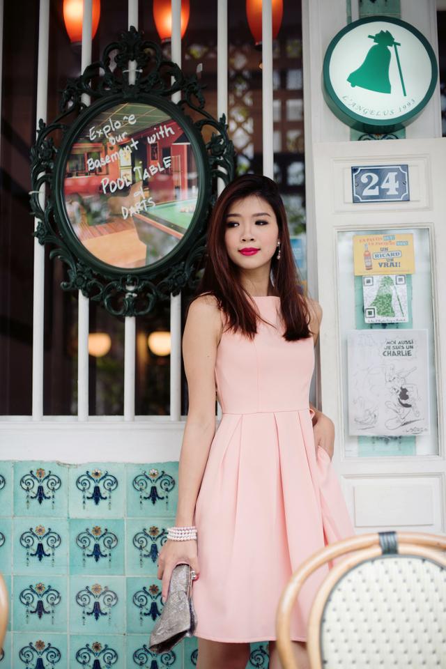 My Fair Lady Midi Dress in Dusty Pink