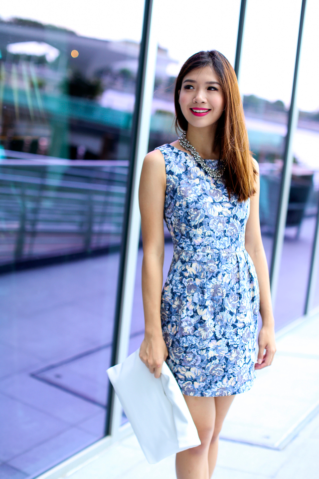 Corporate Beauty Dress in Cove Blue Florals
