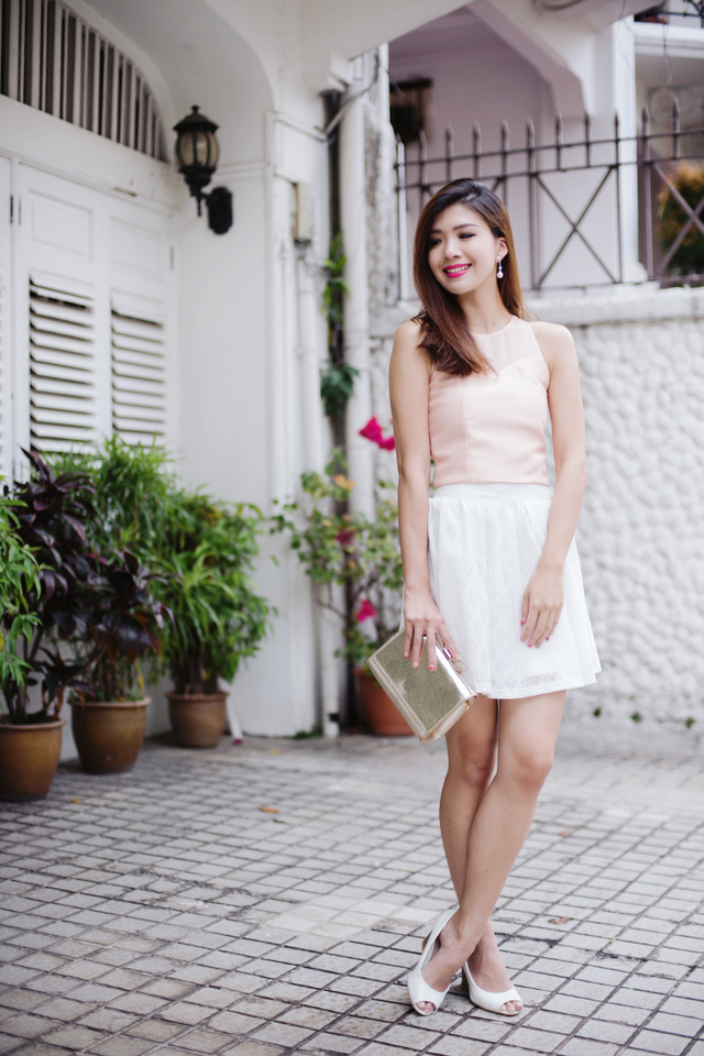 Francine Cropped Top in Peach Pink