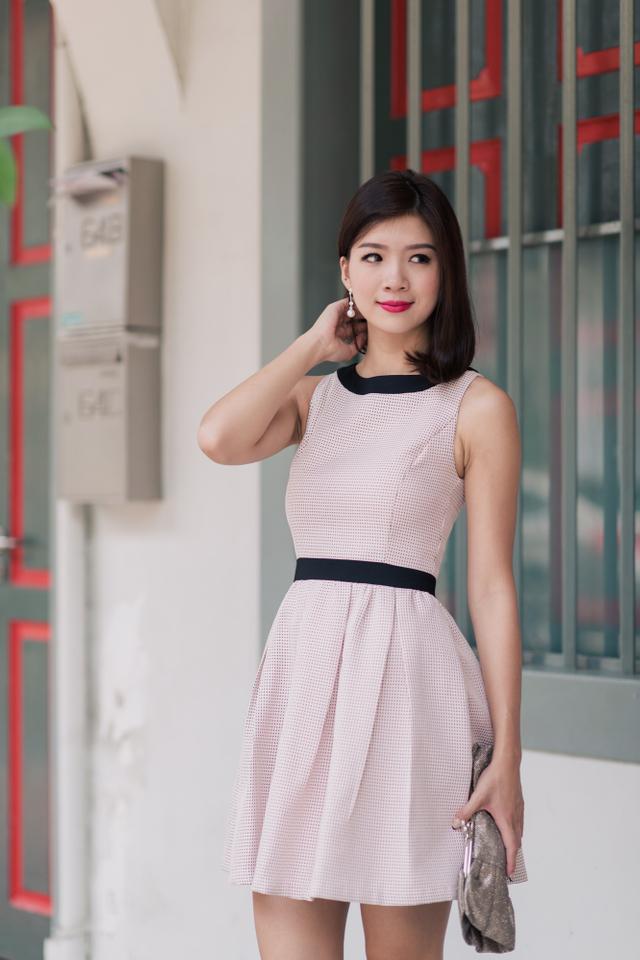 Bridget Tweed Dress in Pink