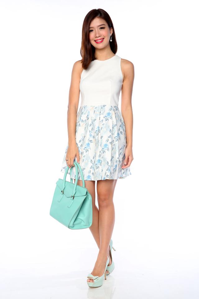 Reina Dress in Cream White