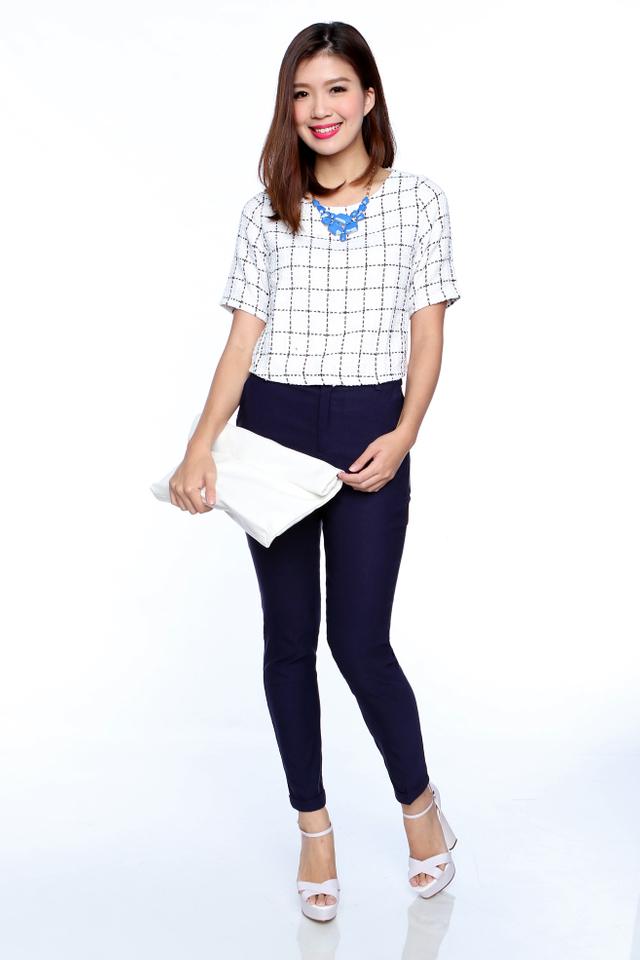Daria Tweed Top in White