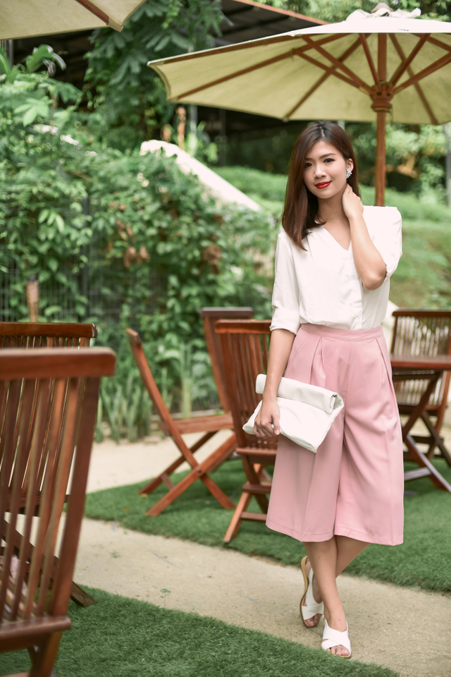 Catharina Culottes in French Pink