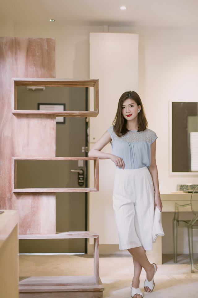 Catharina Culottes in White