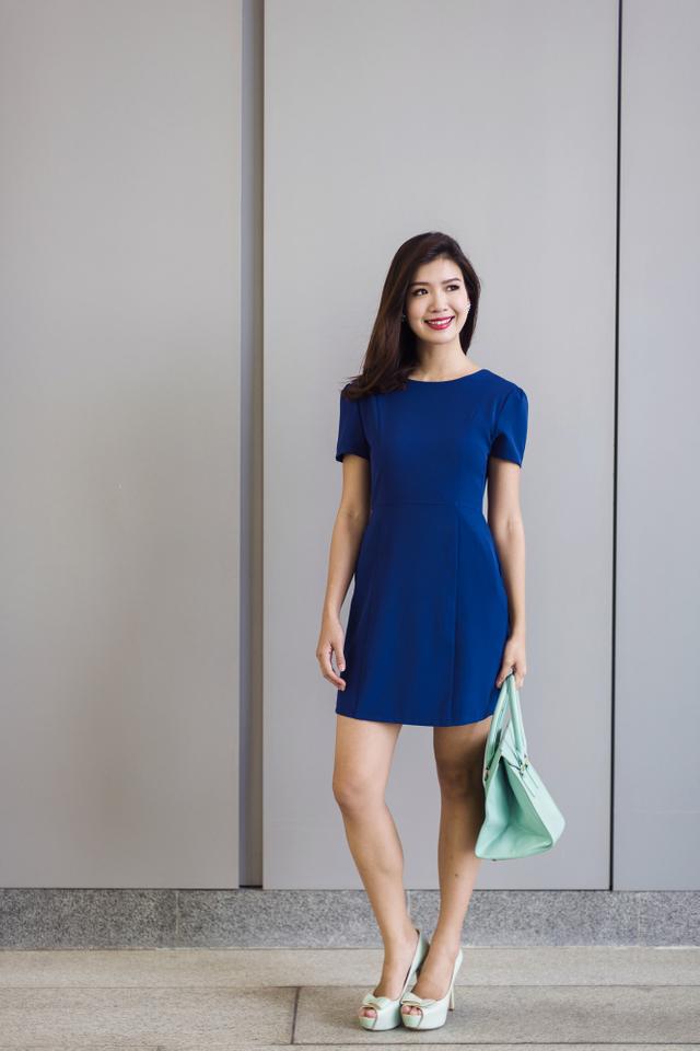Sandra Work Dress in Indigo