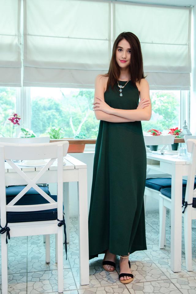 (FMTP x TIPPYTAPP) Grecian Glory Maxi Dress in Forest Green