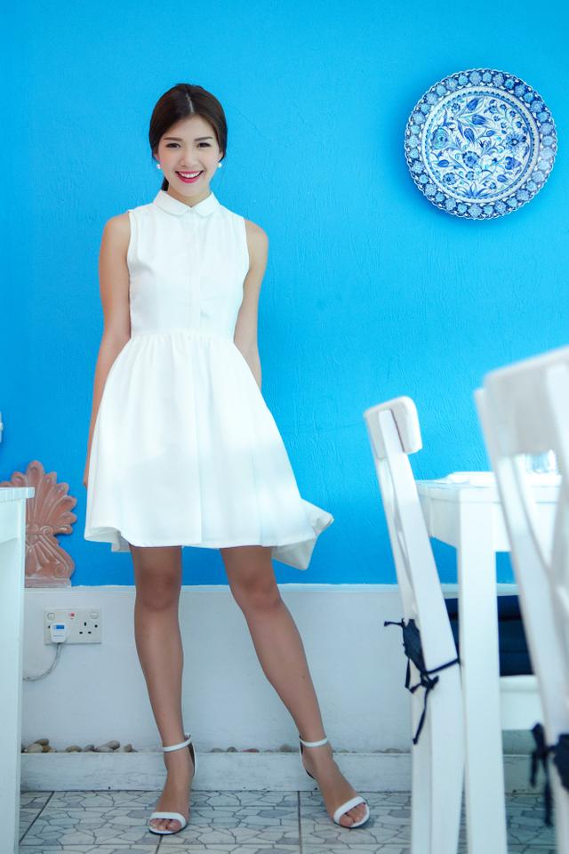 (FMTP x TIPPYTAPP) The Poised Chapter Shirt Dress in White