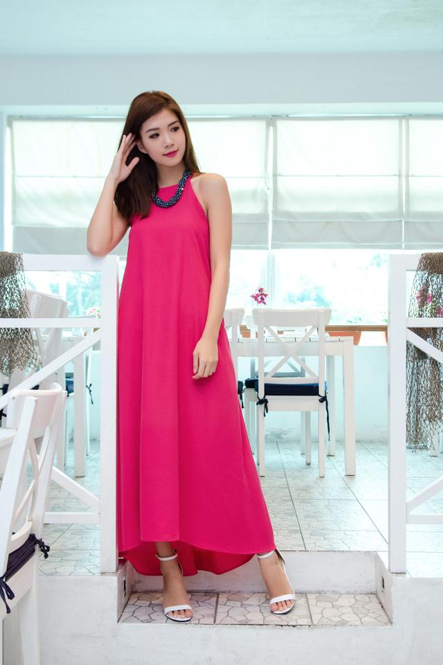 (FMTP x TIPPYTAPP) Grecian Glory Maxi Dress in Fuchsia