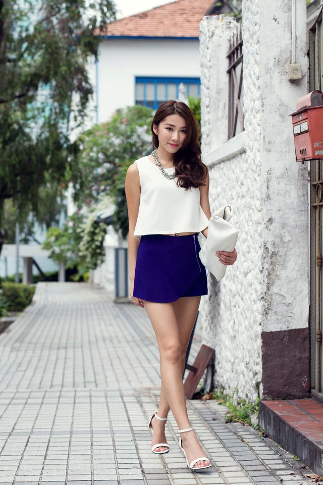 Trista Top in Cream White