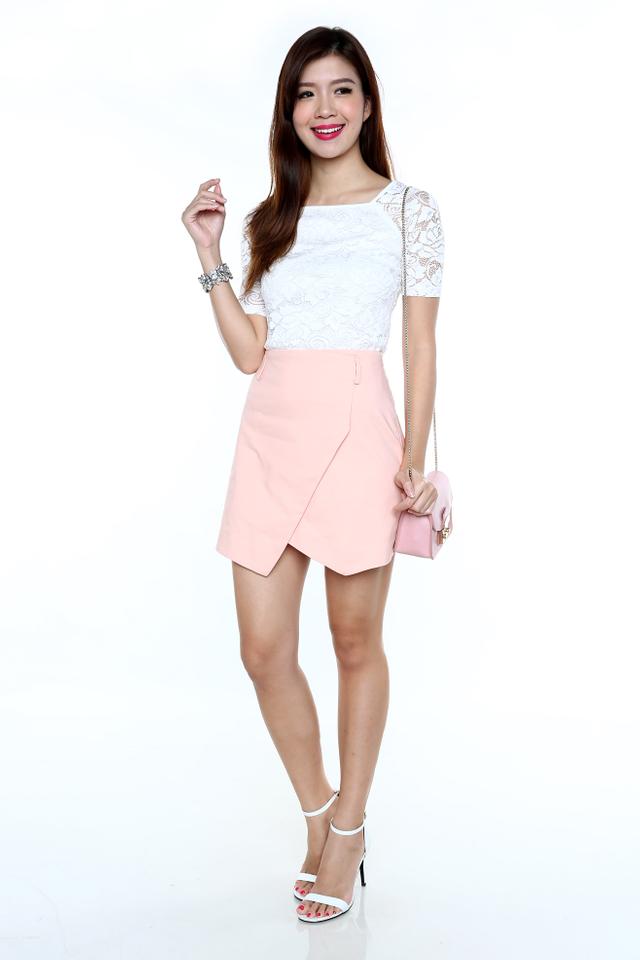 Pretty Please Lace Top in White