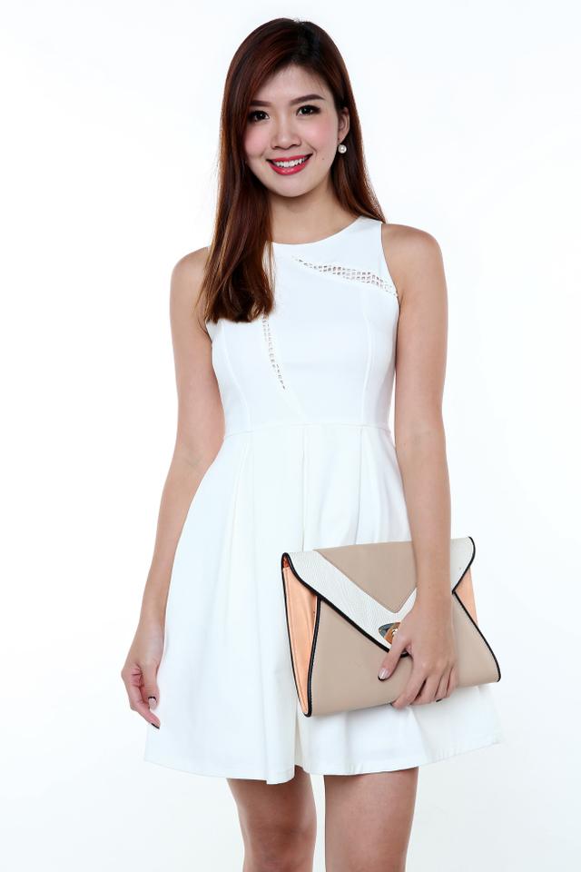 Kate Crochet Art Dress in White