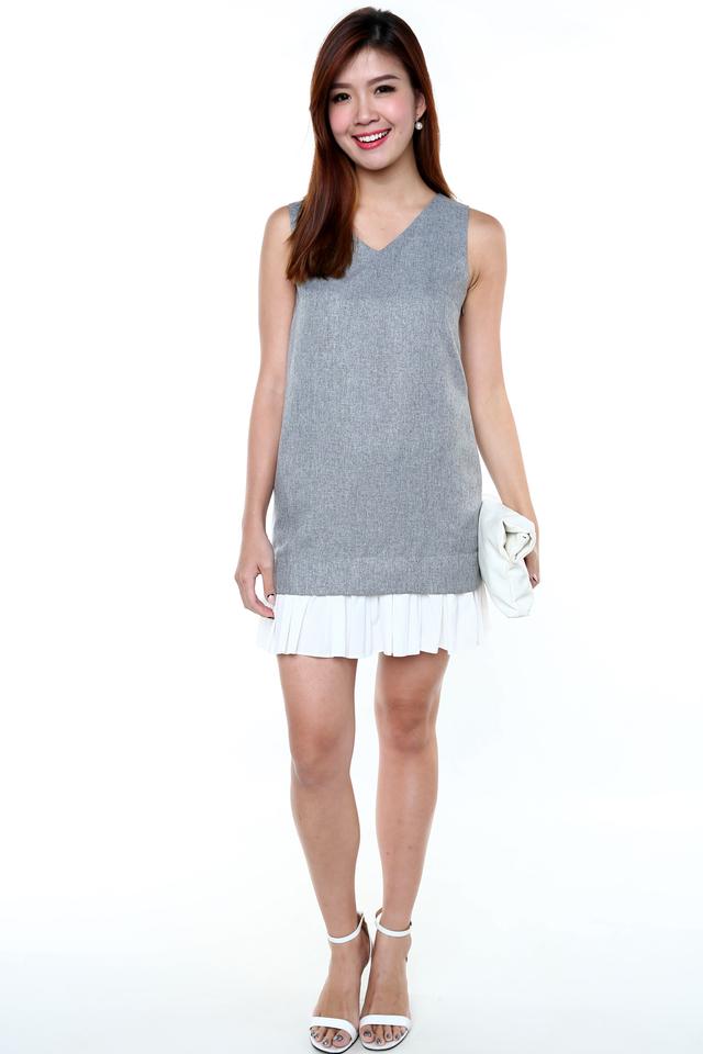 Tia Fun Time Dress in Grey