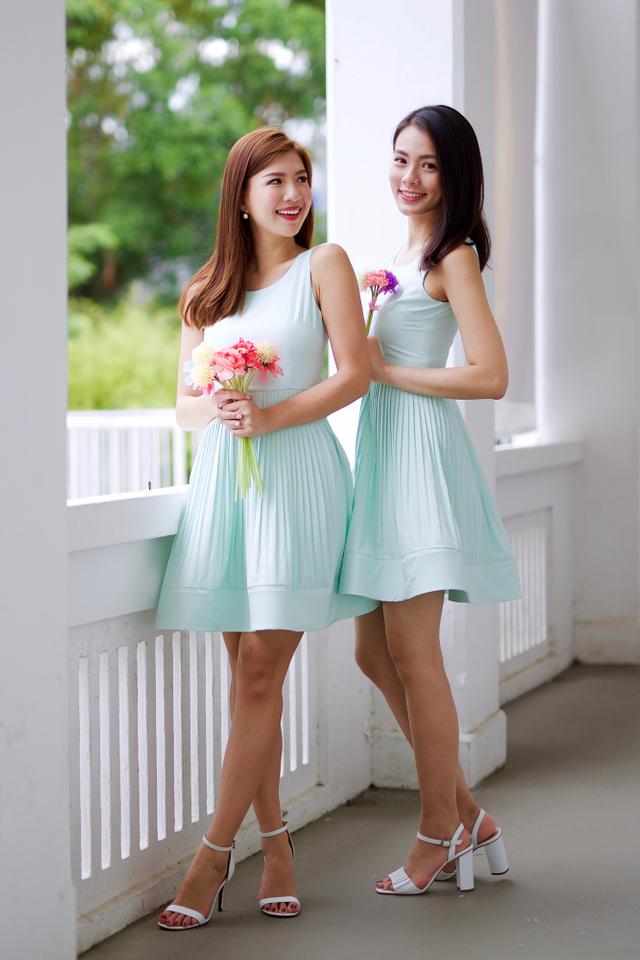 Sweet Nothings Dress in Pastel Mint