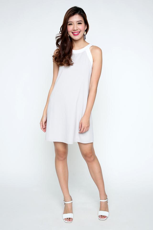 Kayla Dress in Light Grey