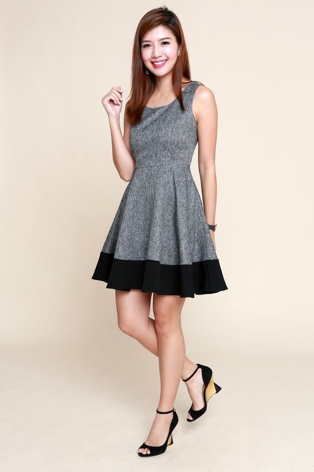 Lydia Swing Dress in Black
