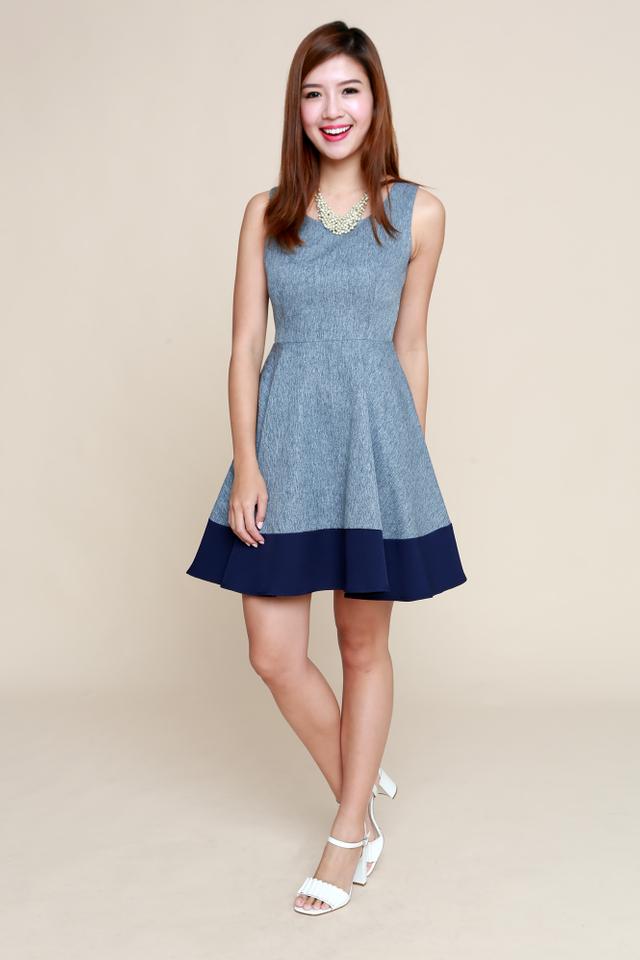 Lydia Swing Dress in Blue
