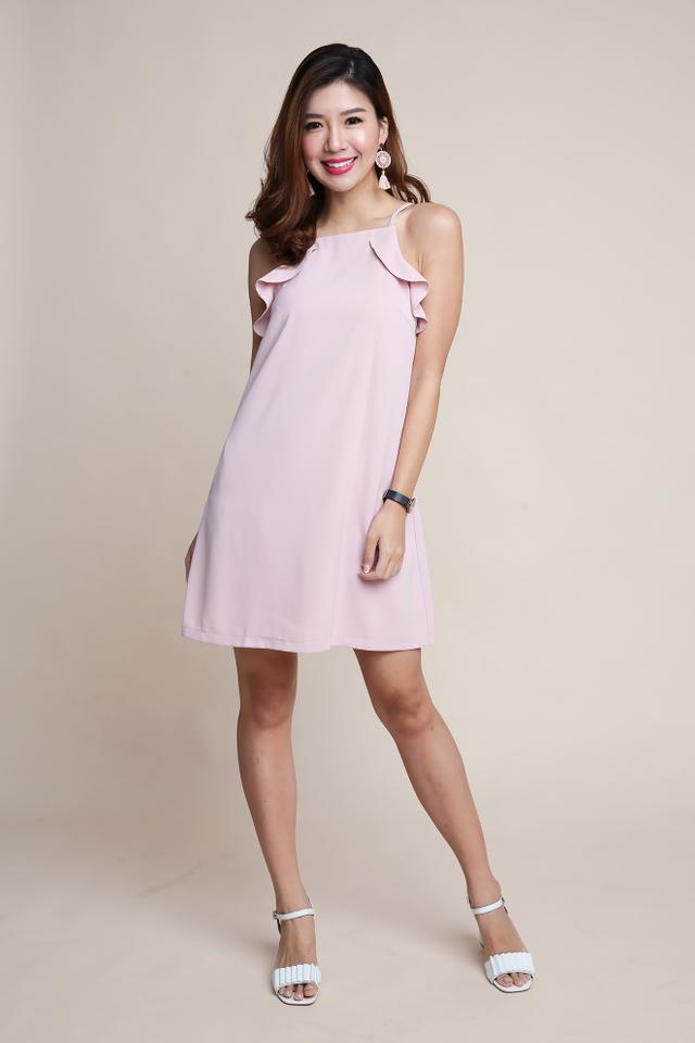 Keri Frills Dress in Pink