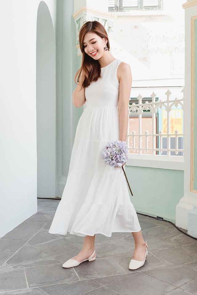Paddy Fields Sun Dress in White