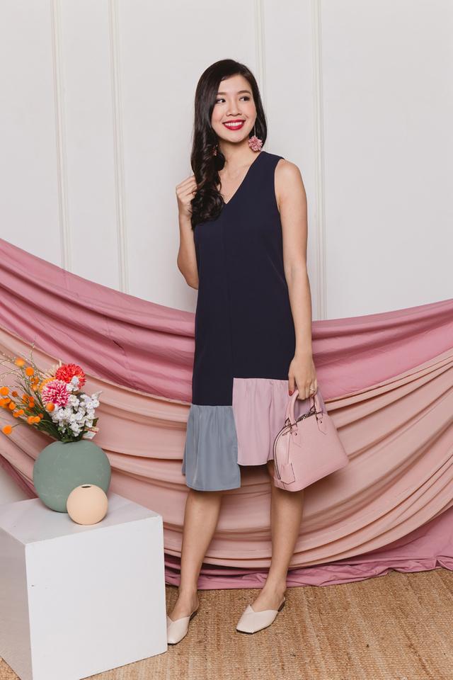 Oretha Colour Block Dress