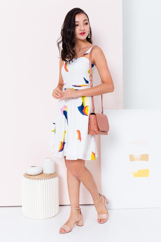 Paper Cranes Dress in Cream