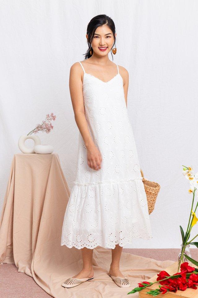 Poppyfield Eyelet Midi Dress