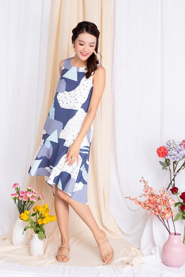 Fine Enamour Drop-Hem Midi Dress