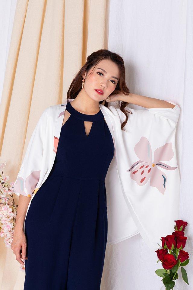 Harmony Kimono Jacket in Pearl White