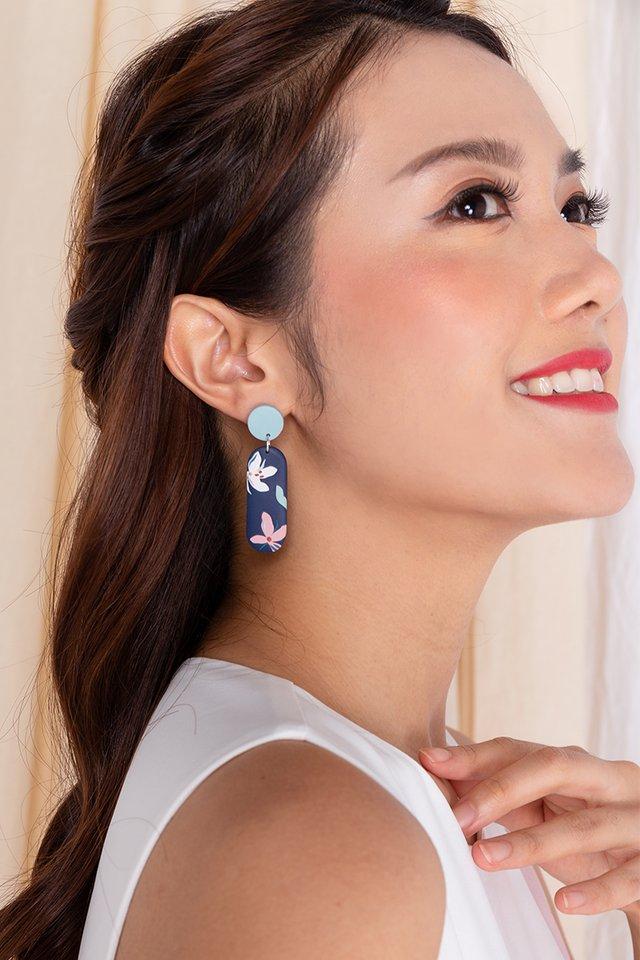 Harmony Squoval Earrings in Navy
