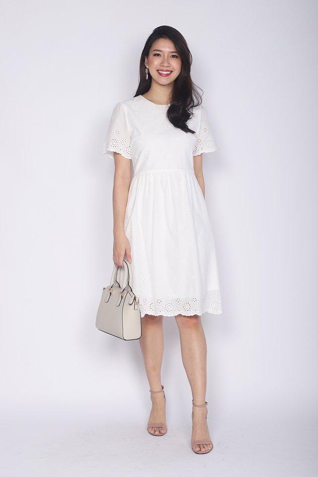 Sweet Maiden Eyelet Dress in White