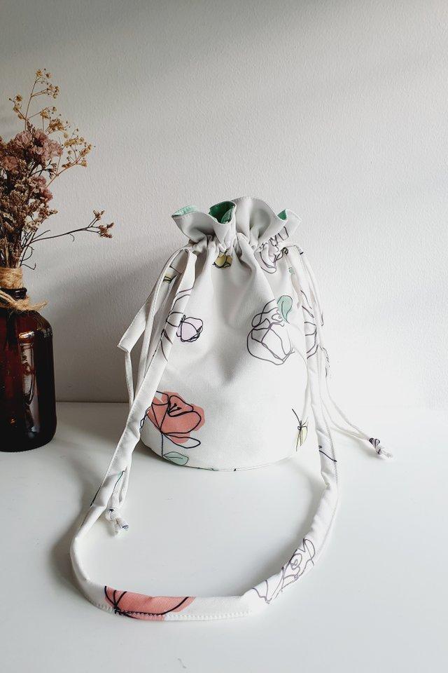 Blooms Drawstring Shoulder Bag