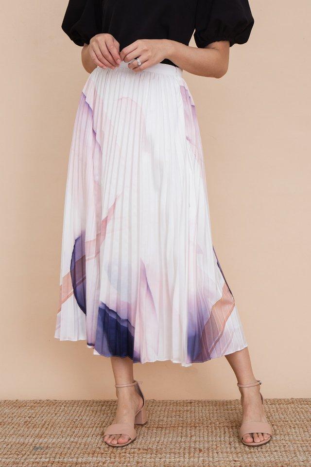 Night Breeze Pleated Skirt