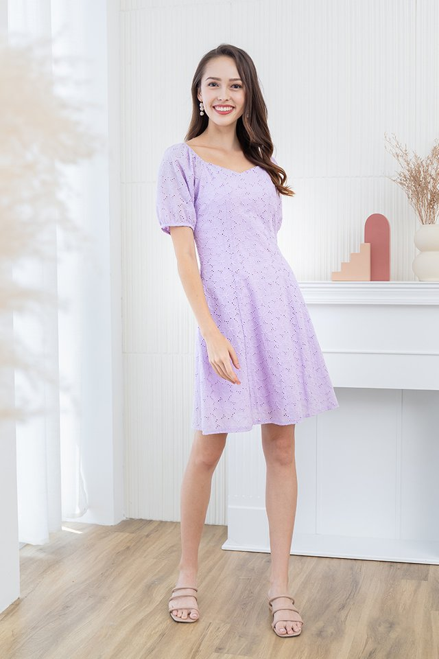 Dreaming About Eyelet Dress in Lilac