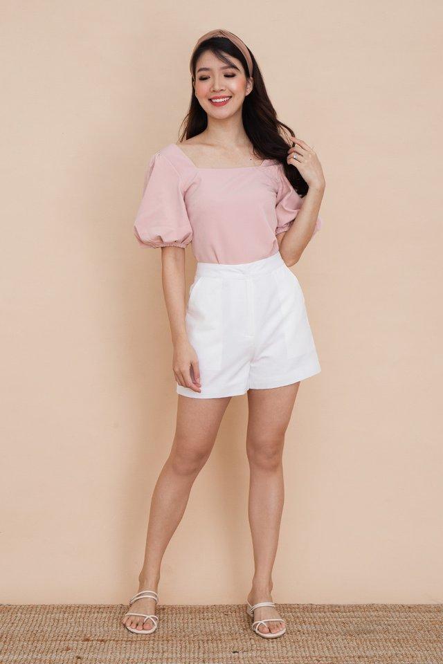 Ada Puff Sleeve Top in Pink