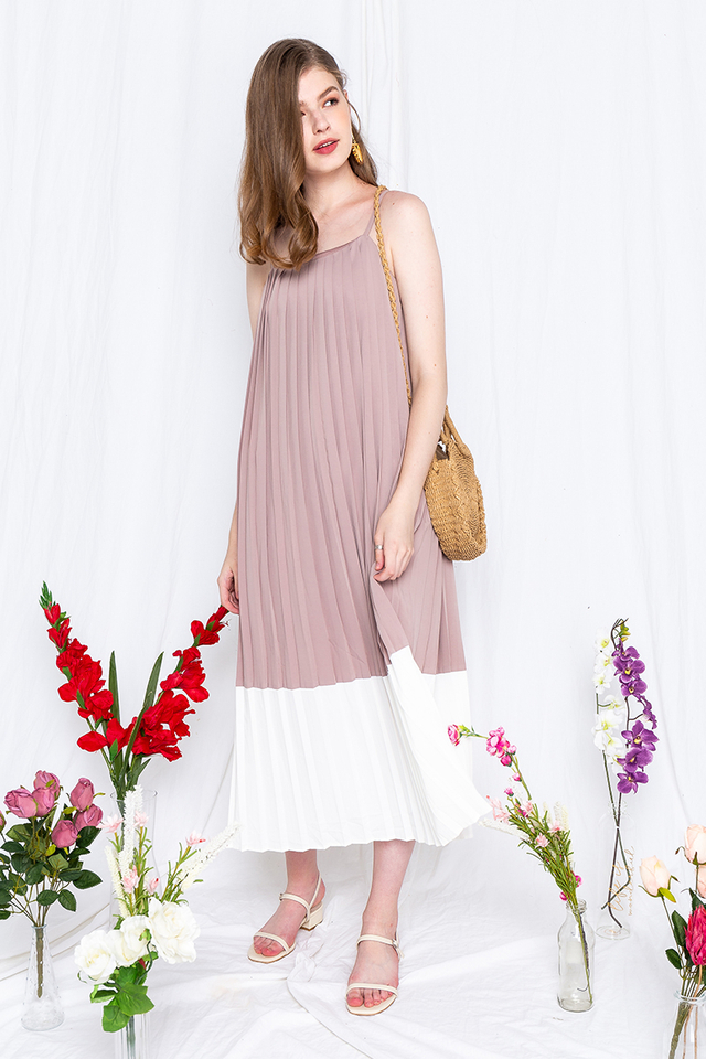 Birthday Cake Dress in Taupe