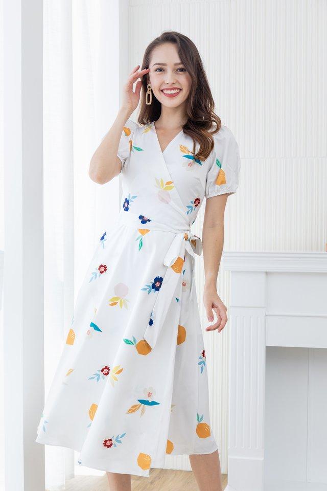 Fresh Harvest Wrap Dress