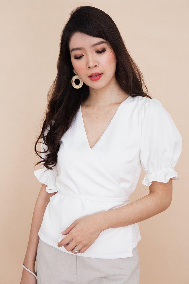 Freya Wrap Top in White