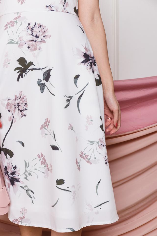 Freya Dress in Rustic Pink Florals