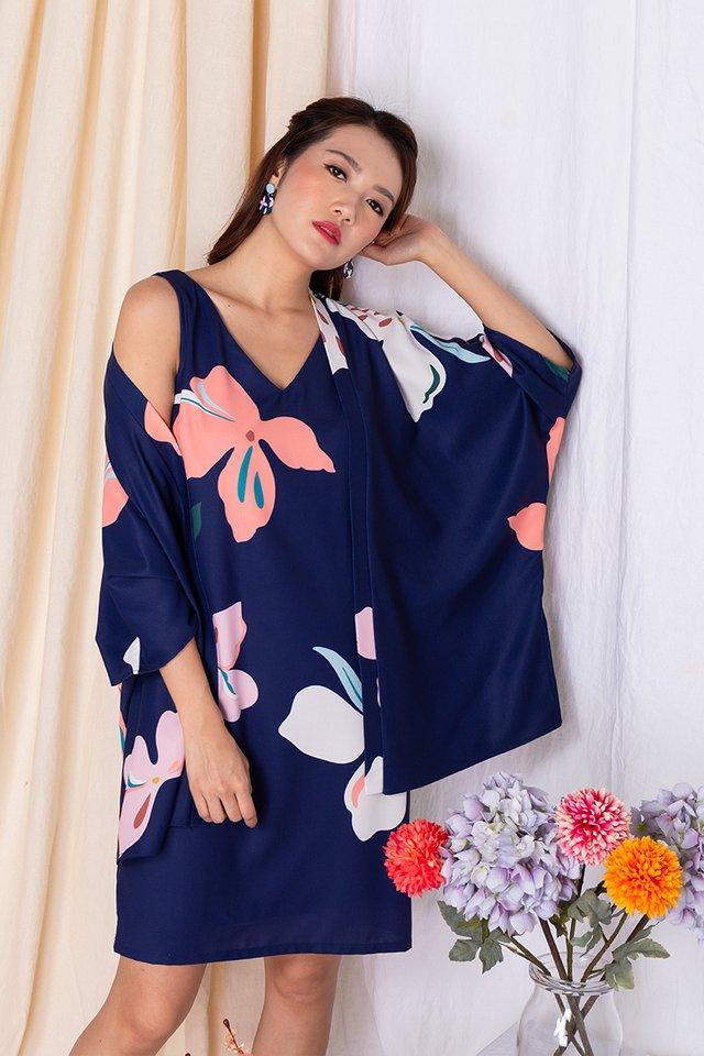 Harmony Sleeveless Dress in Navy