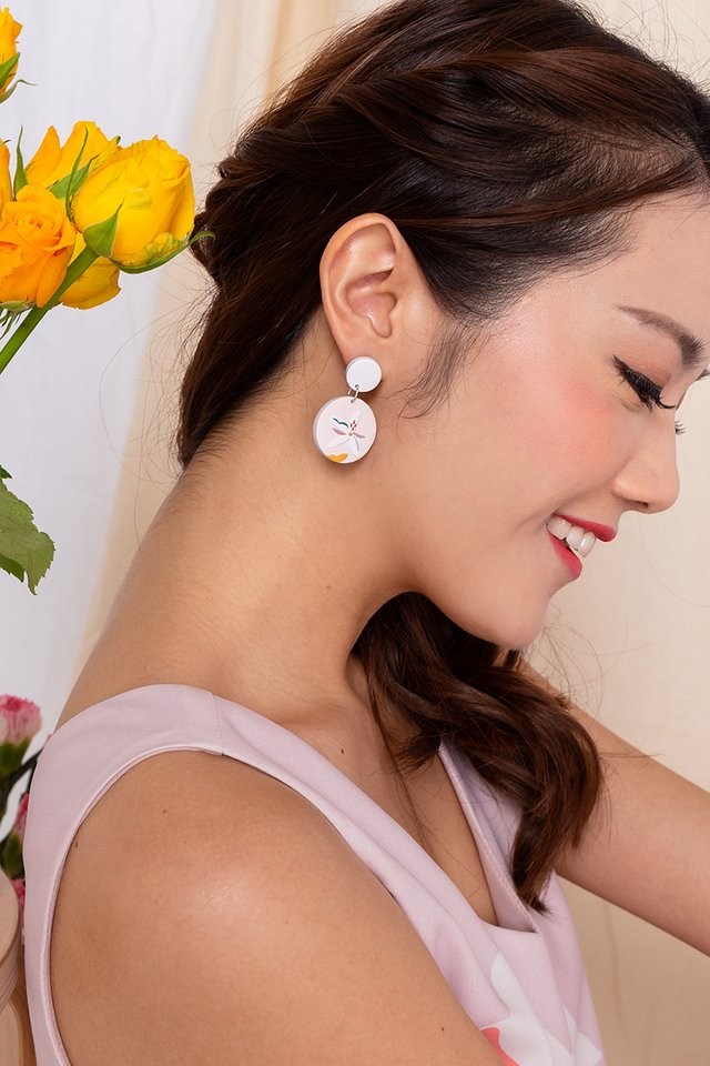 Harmony Round Dangles in Lady Pink