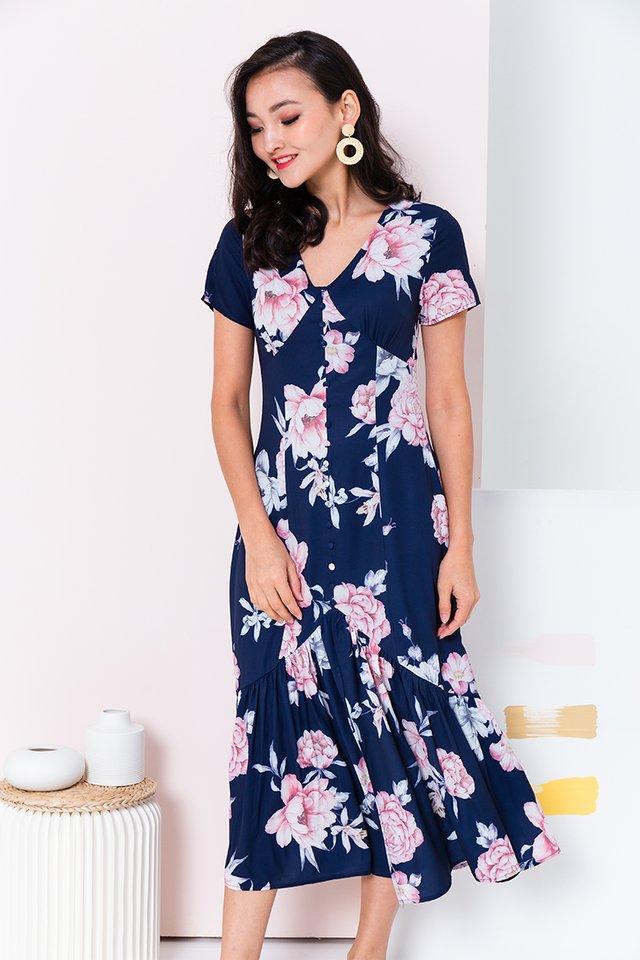 Hopeless Romantic Dress in Navy Florals