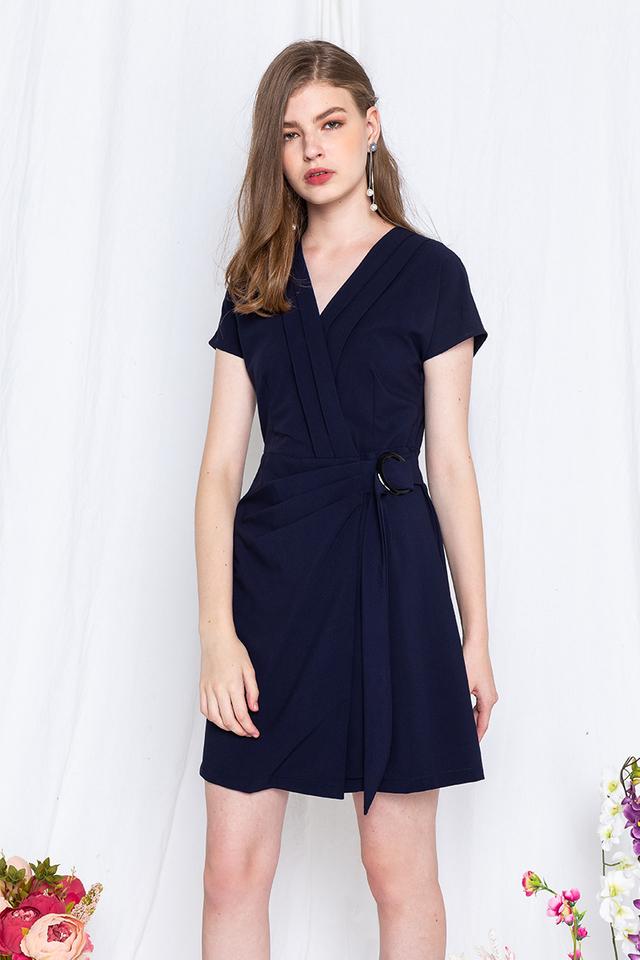 Suit Up Dress in Navy